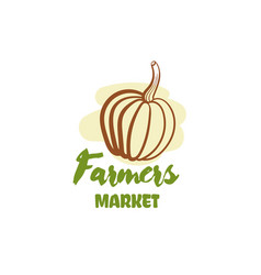 farmers market badge vector image vector image