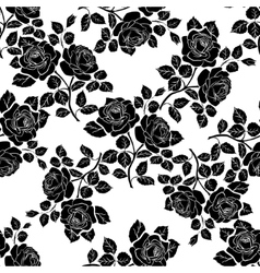 Floral seamless texture with roses vector image