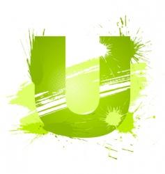font letter u vector image