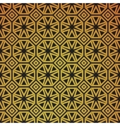 Gold geometric retro abstract seamless pattern vector image