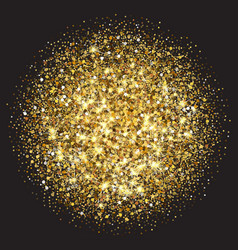 Gold glitter texture golden sparcle vector