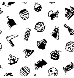 Halloween black and white vector