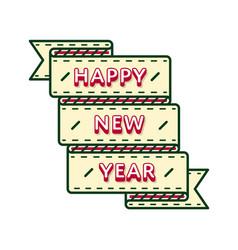 Happy new year greeting emblem vector