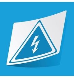 High voltage sticker vector