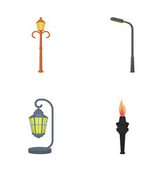 Lamppost in retro stylemodern lantern torch and vector