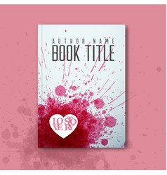 Modern abstract love book cover template vector
