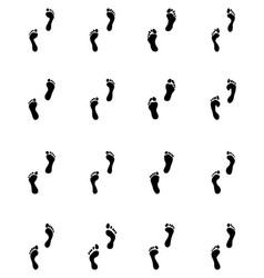Prints of human feet vector