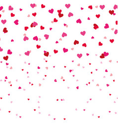 red and pink love heart romantic seamless pattern vector image