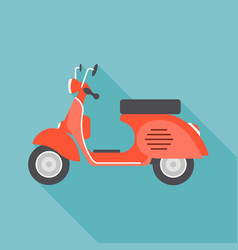 Red vintage motorcycle vector