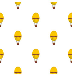 Retro hot air balloon pattern seamless vector