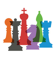 Set of chess figures vector