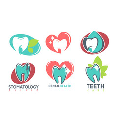 stomatology dental clinic whote tooth icon vector image vector image