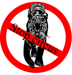 stop circus vector image