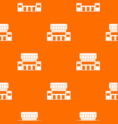 Supermarket building pattern seamless vector