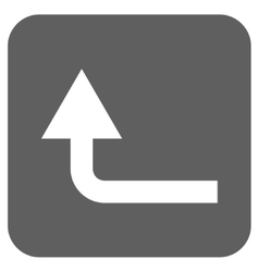 Turn forward flat squared icon vector