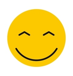 Joyful smiley icon flat style vector