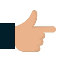 symbol hand pointing isolated vector image
