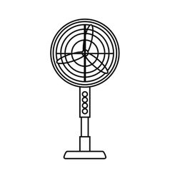 Isolated fan machine design vector