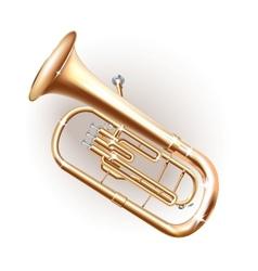Classical baritone horn euphonium tuba vector