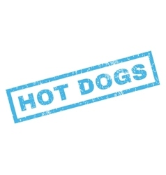 Hot dogs rubber stamp vector