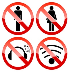 Prohibiting set vector image