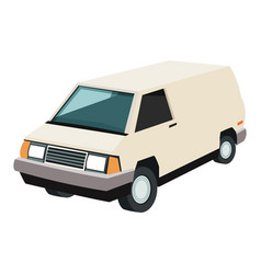Van automobile icon vector