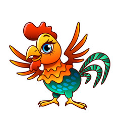 cartoon chicken isolated vector image