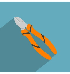 Flat cutting pliers vector