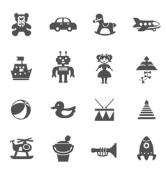 Toys icons set vector