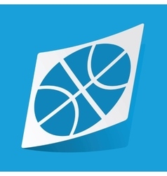 Basketball sticker vector