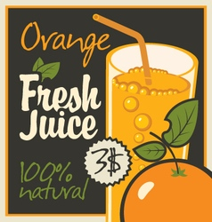 Juice orange vector
