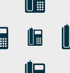 Home phone icon sign seamless pattern with vector