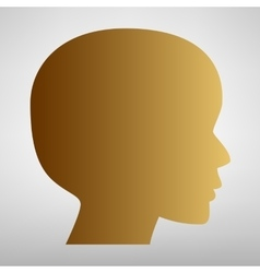 Human head sign flat style icon vector