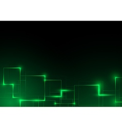 Green Futuristic Abstract Background vector image
