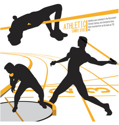 Athletes sports action vector