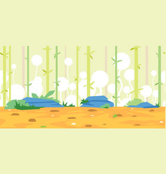 Bamboos game background landscape vector