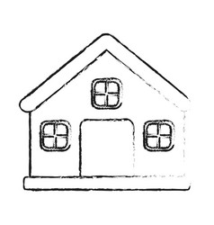 blurred silhouette image cartoon facade vector image