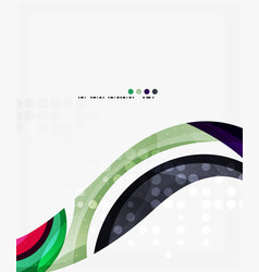 business corporate wave background flyer vector image