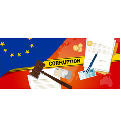 Europe corruption money bribery financial law vector