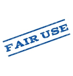 Fair use watermark stamp vector