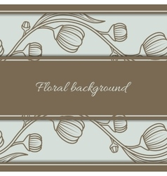 Floral vintage seamless background vector image vector image