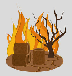 Forest fire icon image vector