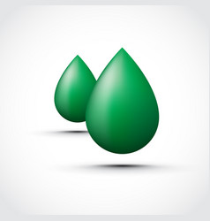 Green water droplets vector