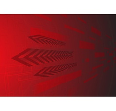 Hi tech red background vector image vector image