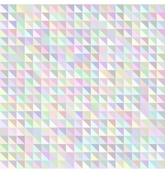 Holographic triangle geometric pattern vector