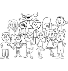 kids or teens coloring page vector image vector image