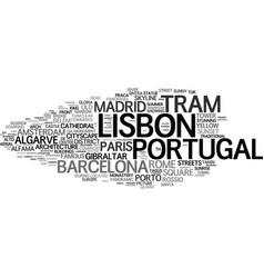 Lisbon word cloud concept vector