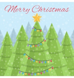Merry christmas christmas card daytime christmas vector
