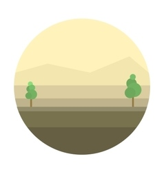 Mexican desert background vector