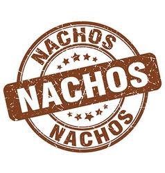 Nachos brown grunge round vintage rubber stamp vector